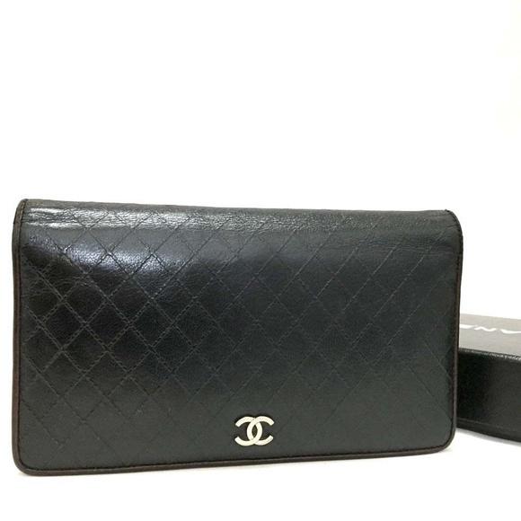 6f7e789420fd CHANEL Bags | 100 Auth Black Bicolore Quilted Matelasse | Poshmark